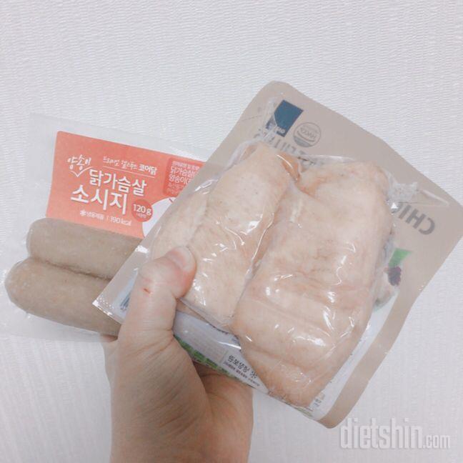 코어닭 닭가슴살 소시지 양송이맛으로 아침 먹기🔥