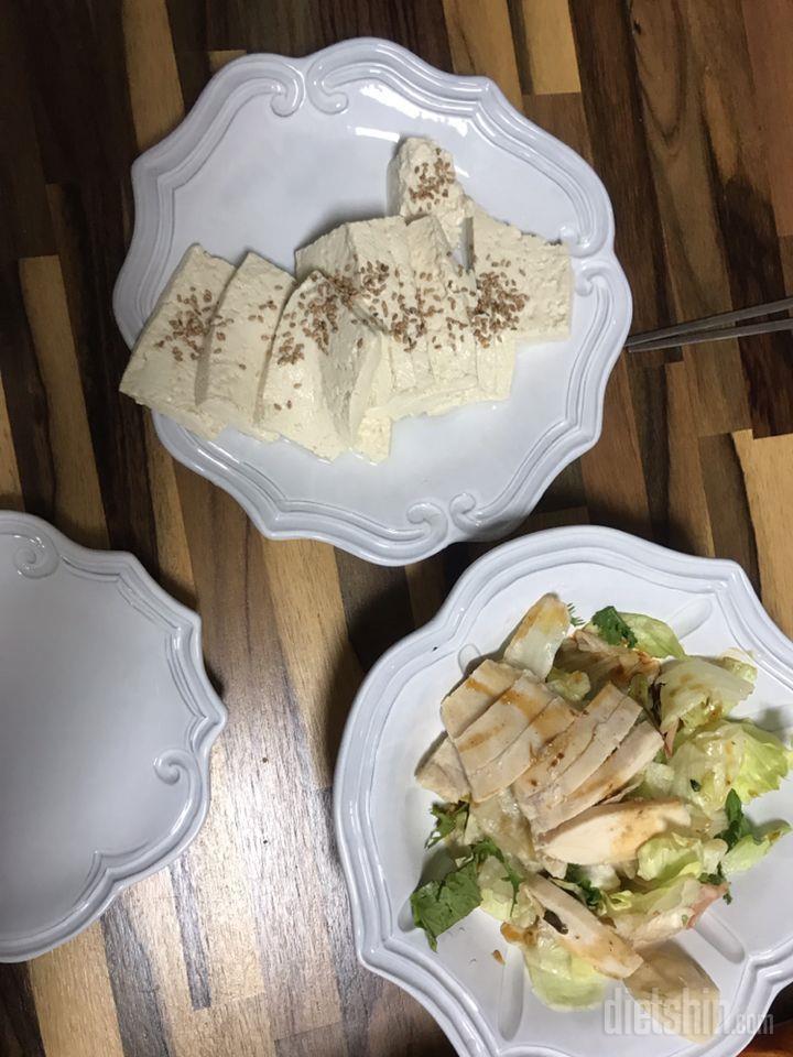 닭가슴살샐러드, 두부 2인분