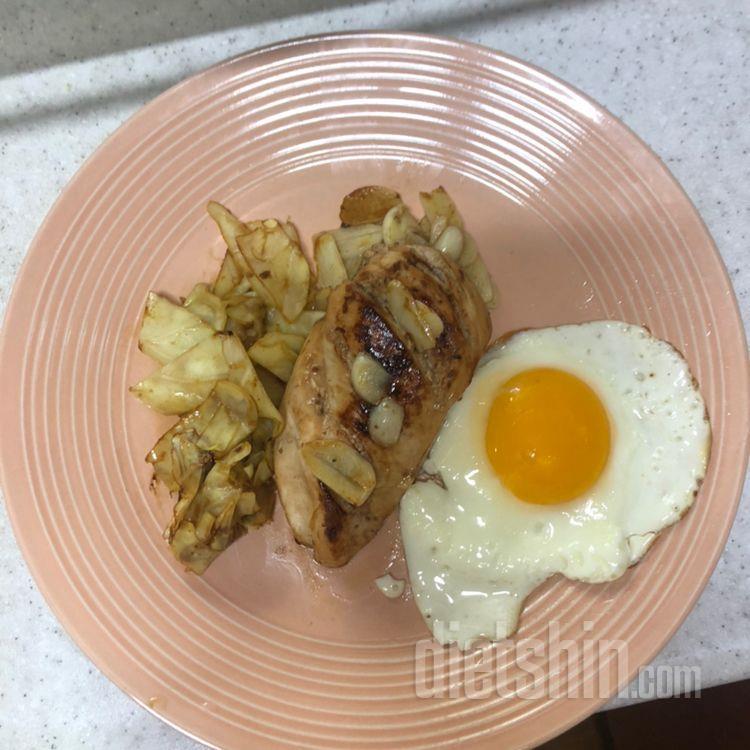 점심 닭가슴살 스테이크