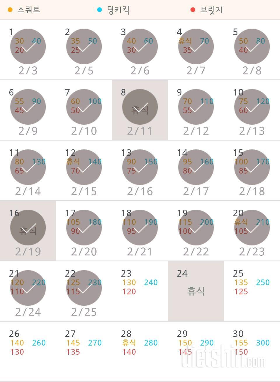 30일 애플힙 22일차 성공!