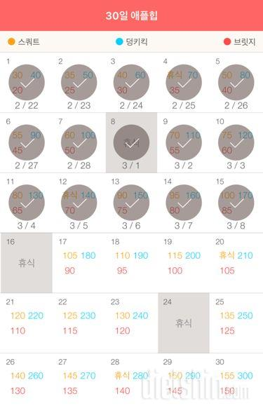 30일 애플힙 105일차 성공!