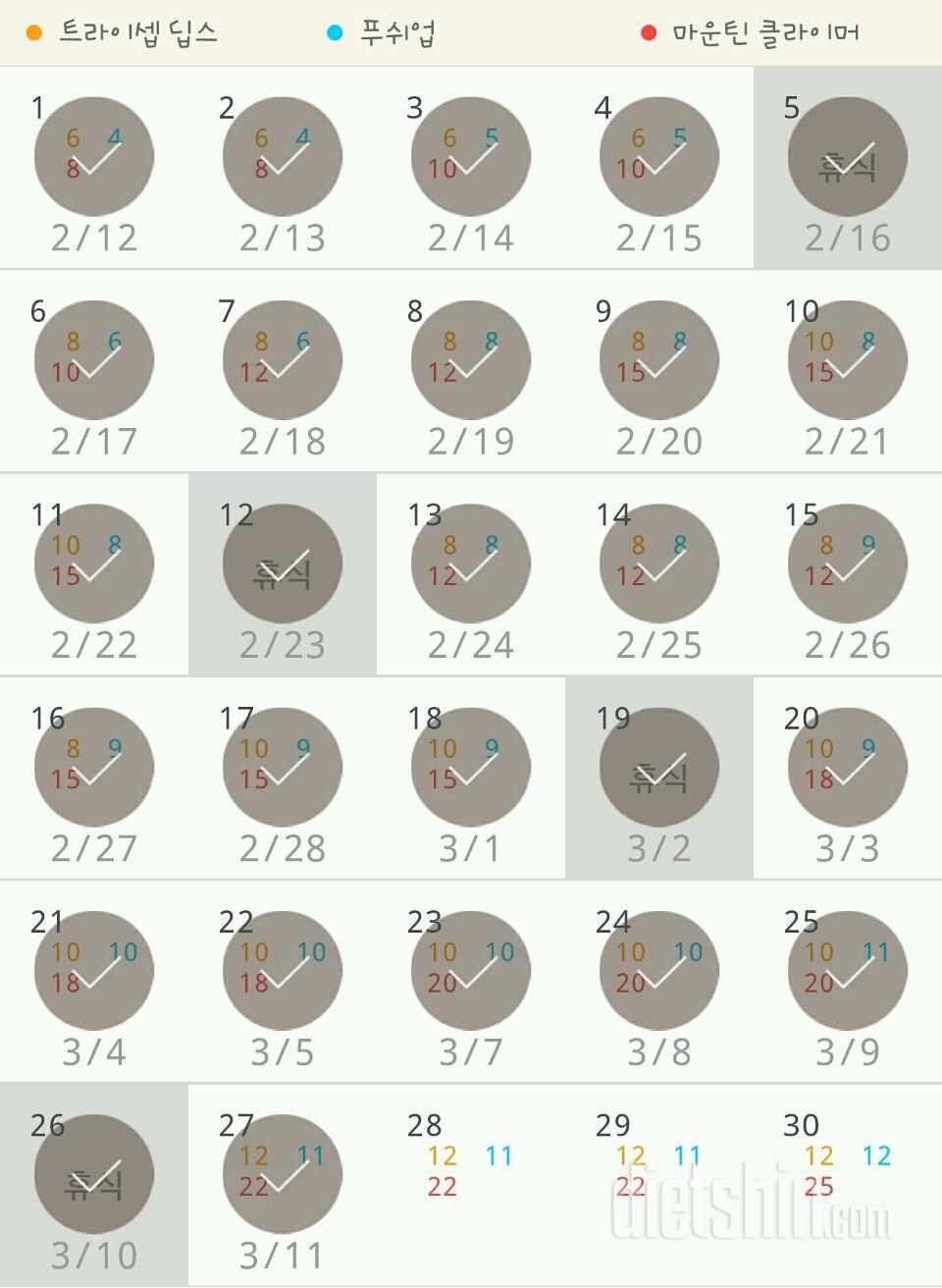 30일 슬림한 팔 267일차 성공!
