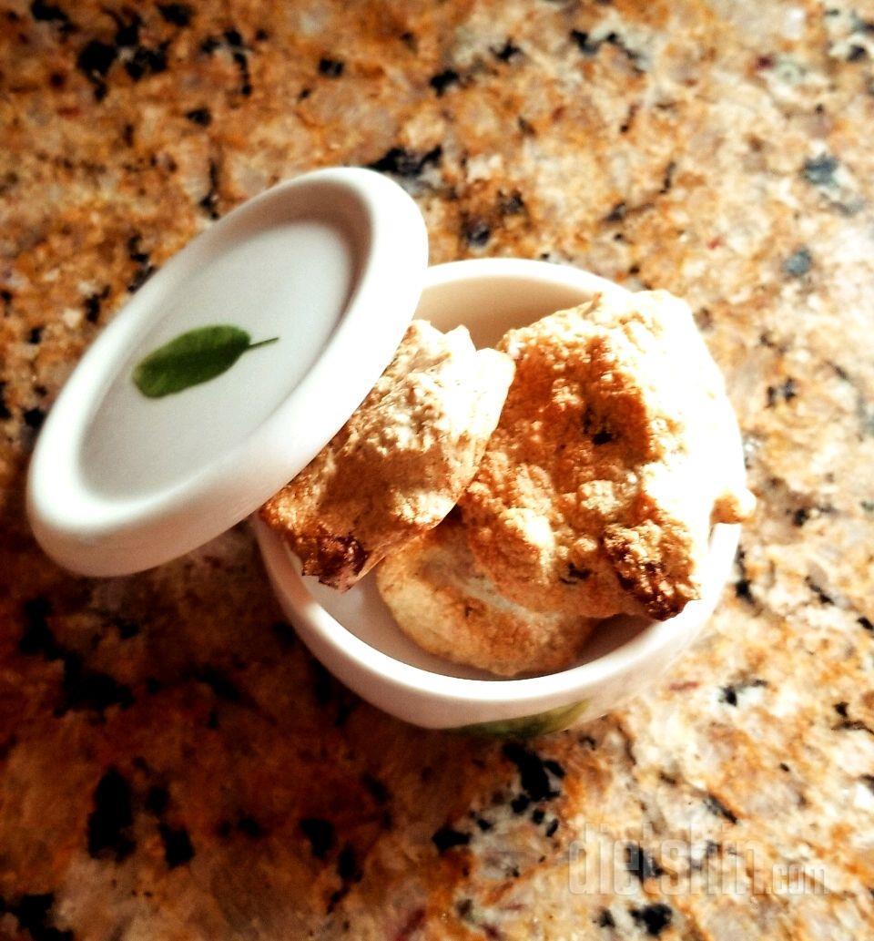 간식이 땡겨서 만든 15칼로리 오트밀 미니 스콘🍪