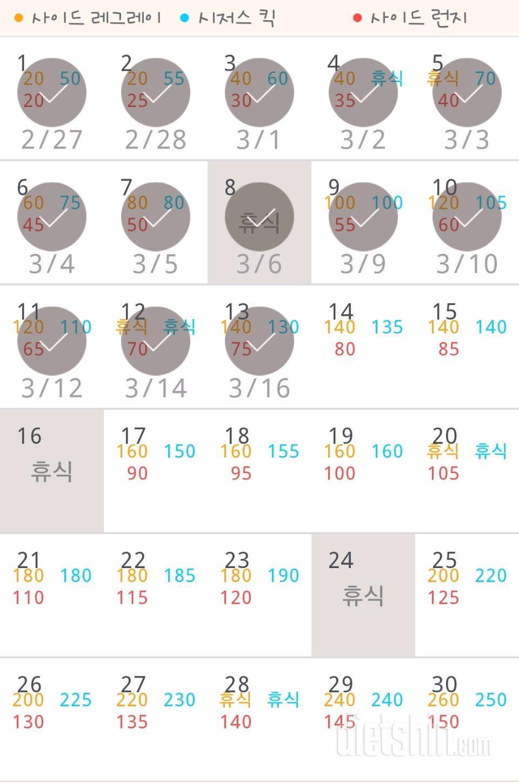 30일 탄탄한 허벅지 13일차 성공!