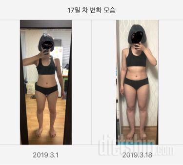 복부 허벅지 감량(17일차)