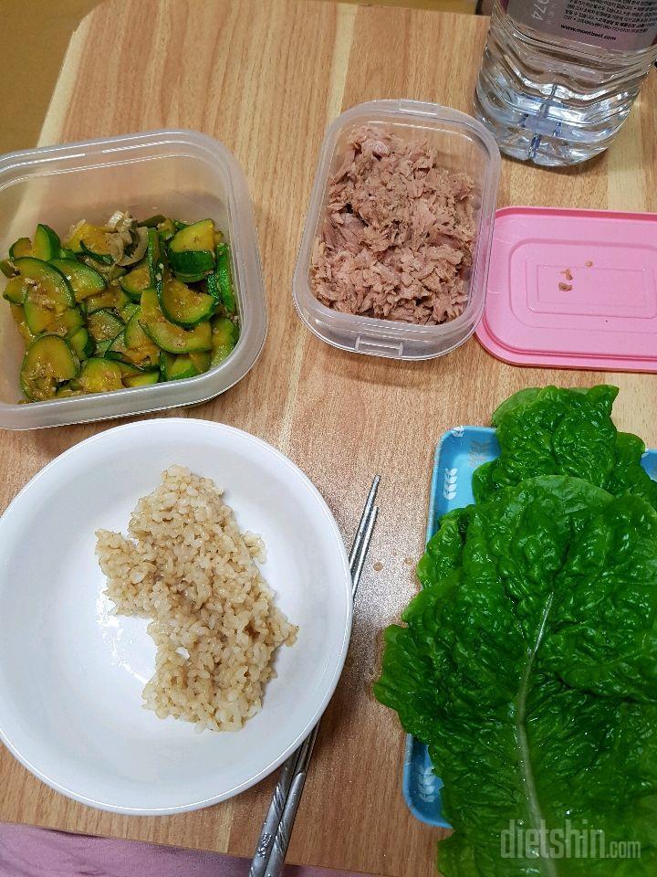 현미밥과 쌈