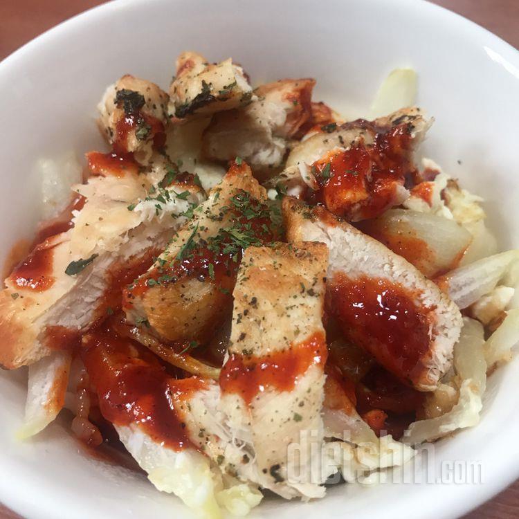 닭가슴살 볼케이노 덮밥