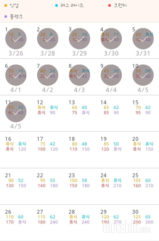 30일 복근 만들기 221일차 성공!
