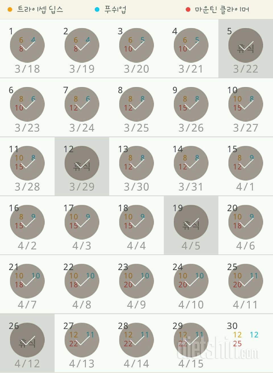 30일 슬림한 팔 299일차 성공!