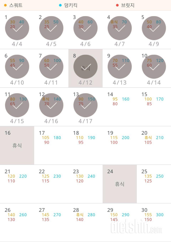 30일 애플힙 43일차 성공!