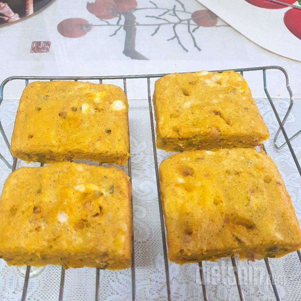 밀가루, 버터, 오일없는 단호박빵 만들기