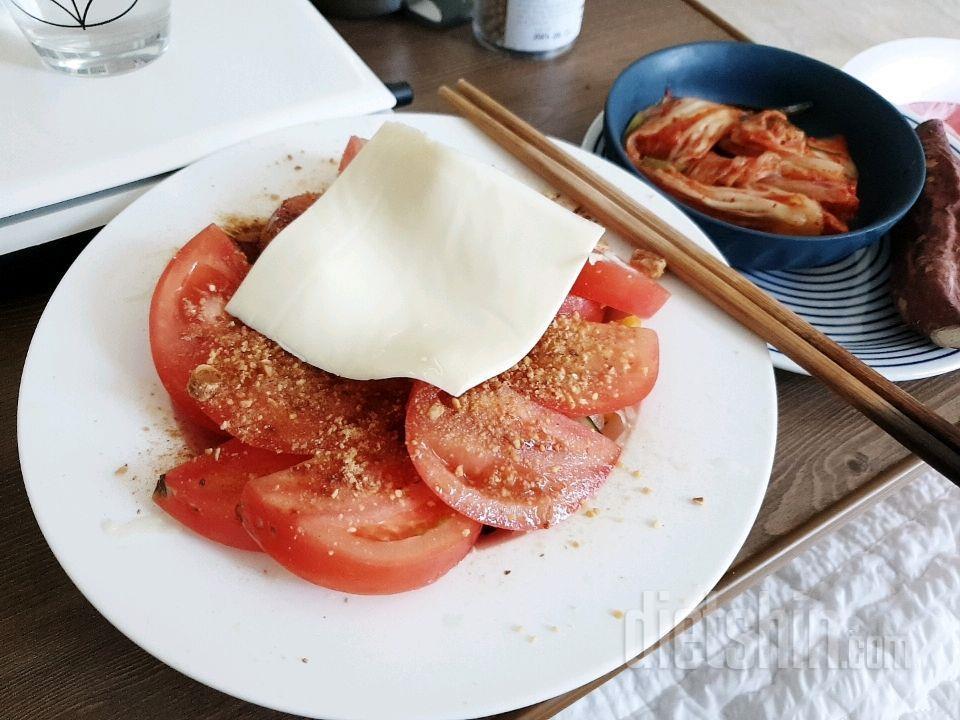 오늘점심 토마토야채샐러드