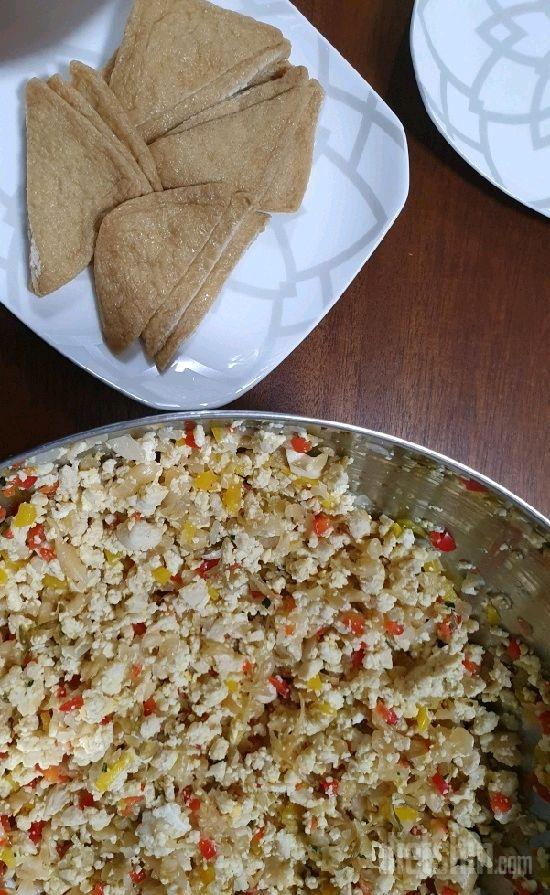두부닭가슴살유부초밥!