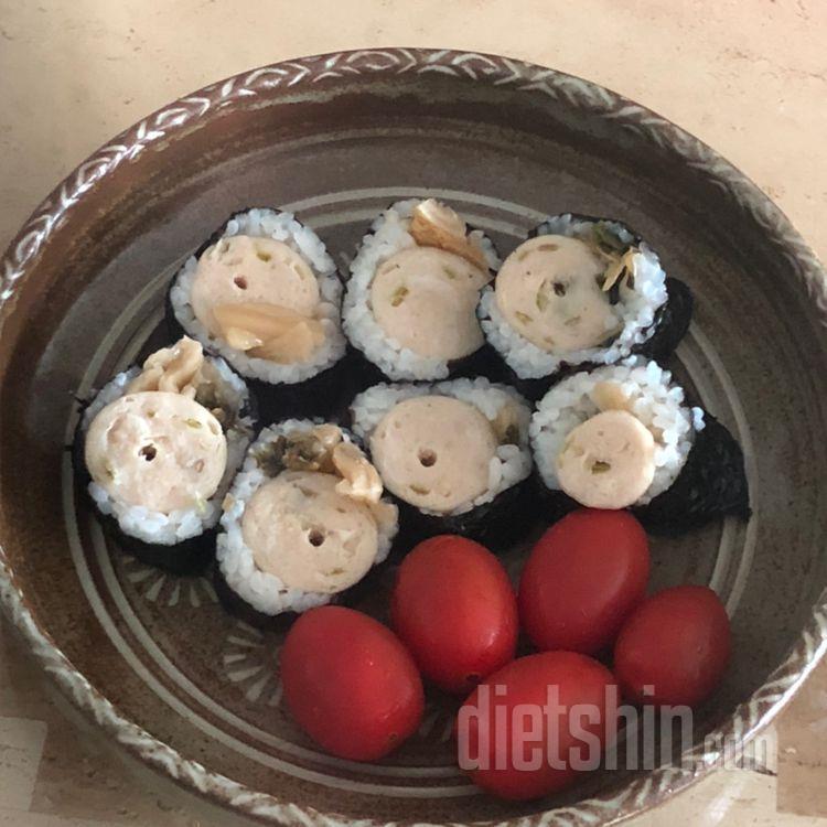 250칼로리 포만감 가득 닭가슴살 소시지 김밥