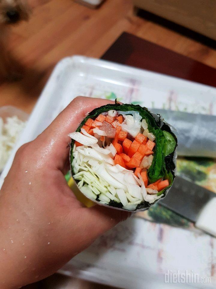 오징어야채김밥?부리또?