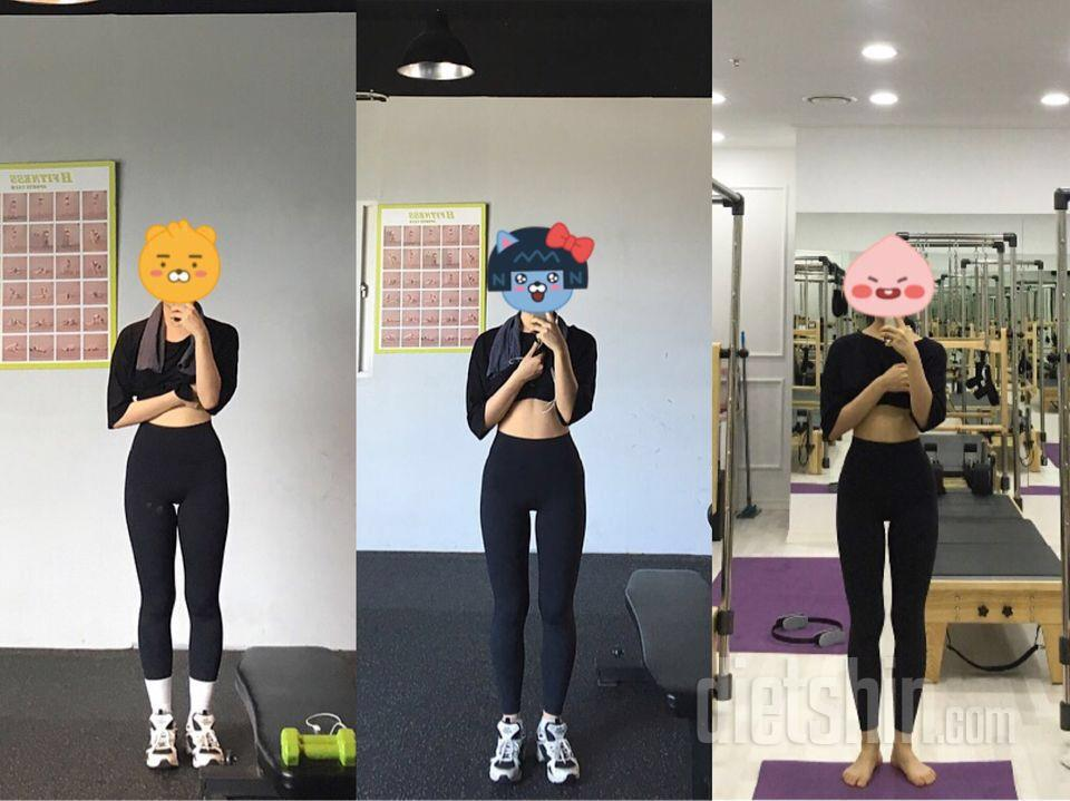두달반 다이어트 58->\;52