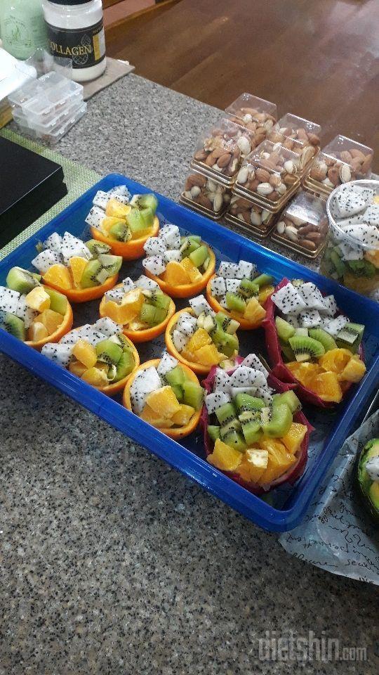 과일접시&녹두밥