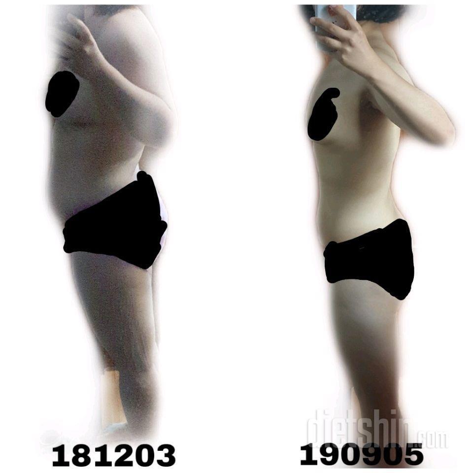 [78kg -> 54~55kg] 약 10개월 간 변화 눈바디