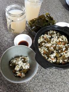 미역밥&녹두.당귀차~