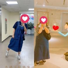 다이어트 전후 같은옷 비교