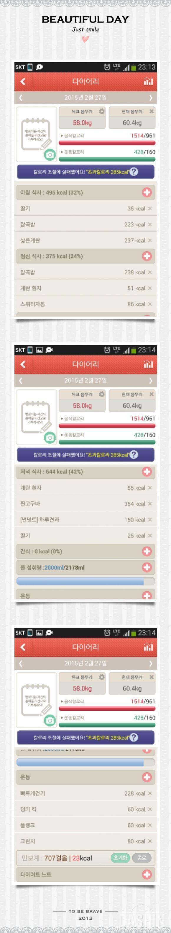 ▲▲다신2기 65.8  →→ 60.4kg  27일차