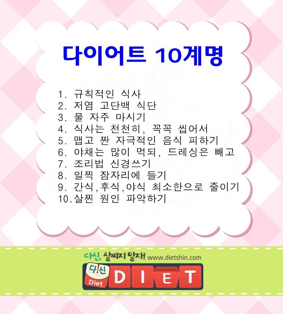 다이어트 10계명