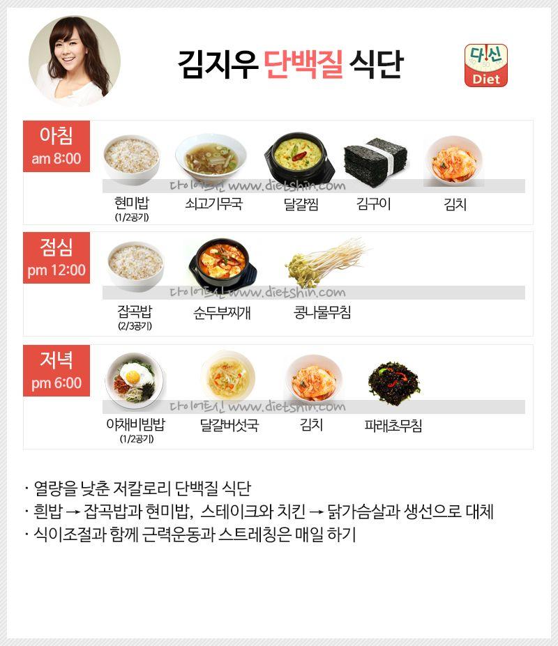 배우 김지우 식단표 (단백질 식단)