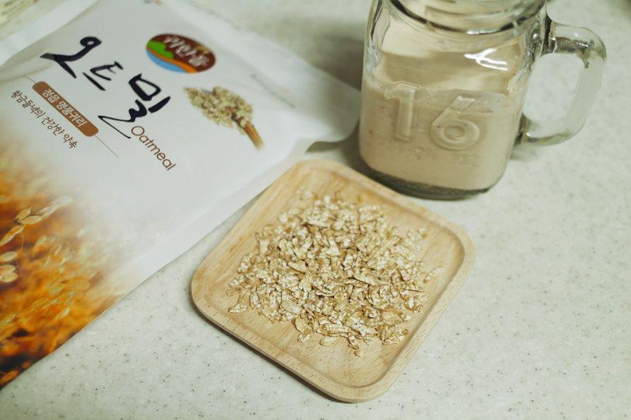 두유요거트로 만든 오버나이트 오트밀