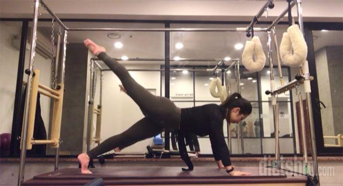 엉덩이 체지방 불태우는 필라테스 운동