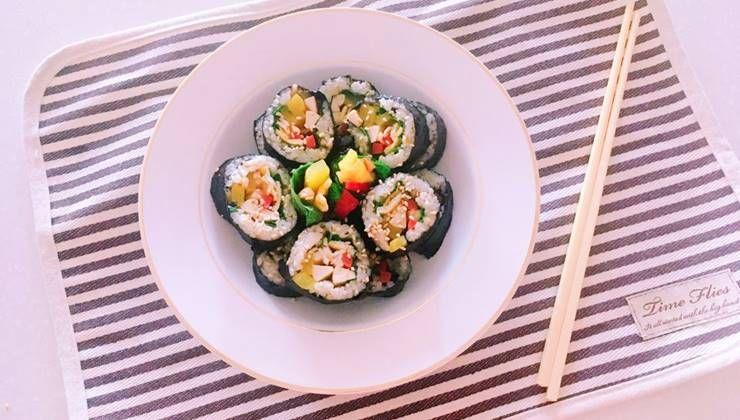 닭가슴살 소세지 활용한 다이어트 김밥