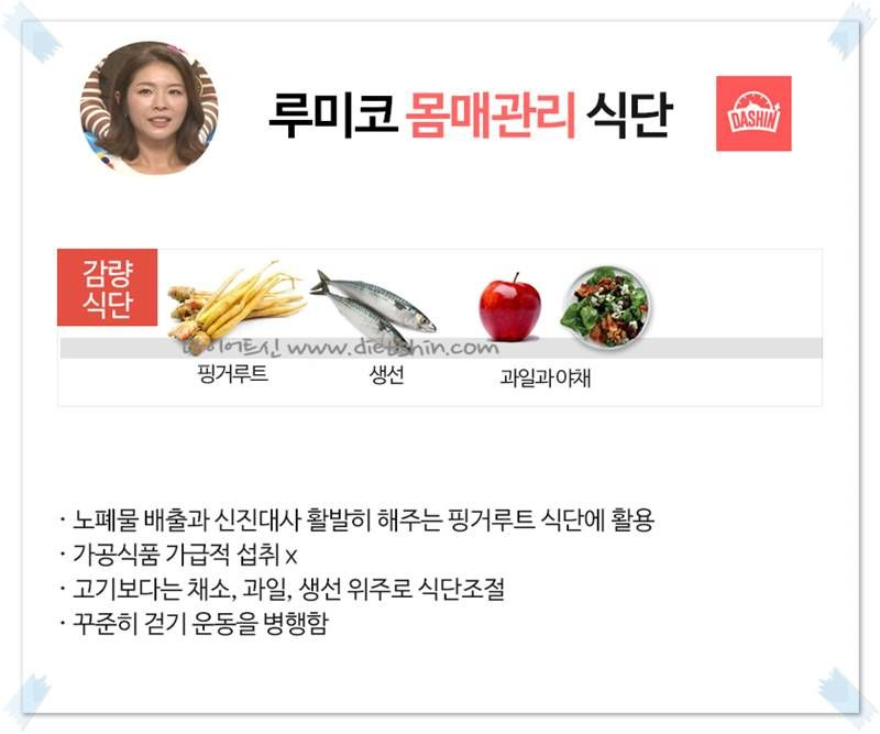 김정민 아내 루미코 식단 (출산후 감량)