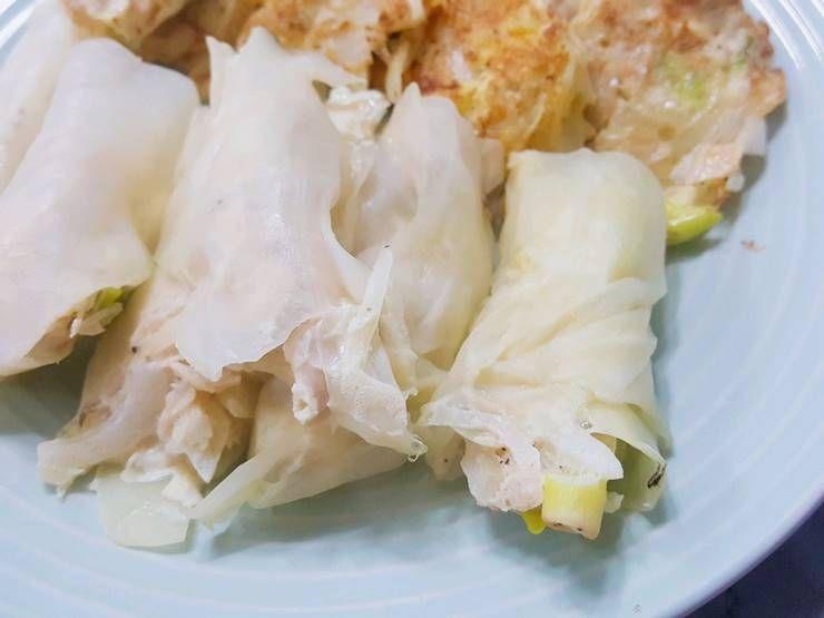 먹음직스러운 닭가슴살 양배추 만두!