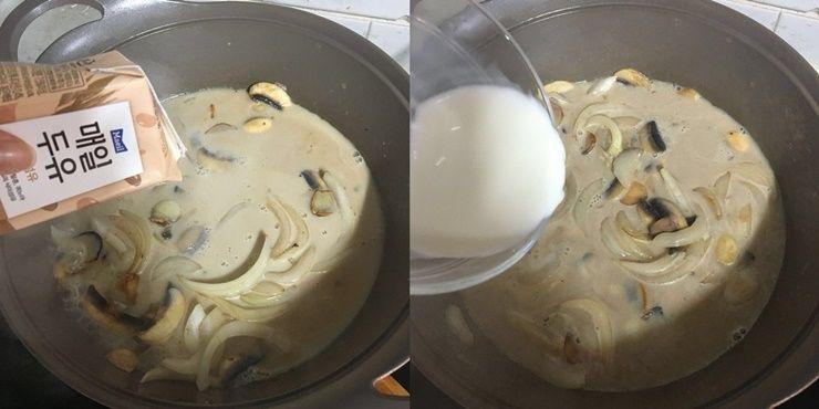 15분만에 만드는 닭가슴살 두유 파스타!
