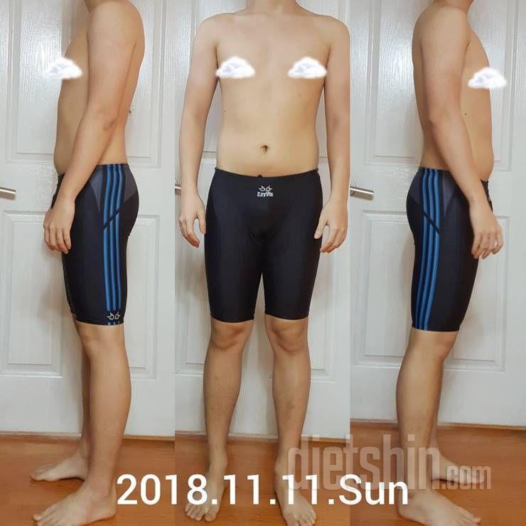 다이어트 한달만에, 80kg대에서 60kg대로!