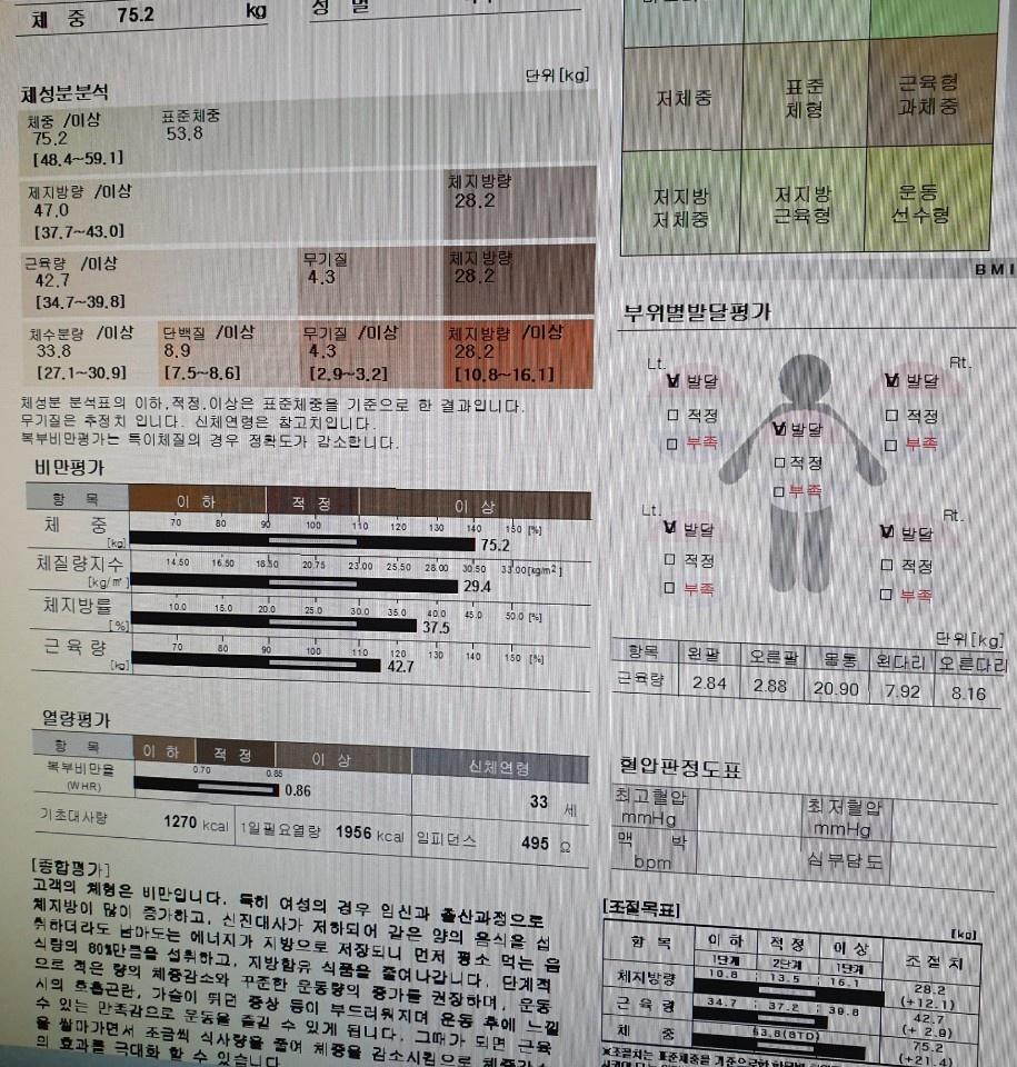106일차 2차점검 90kg->77kg->69kg(-21kg)