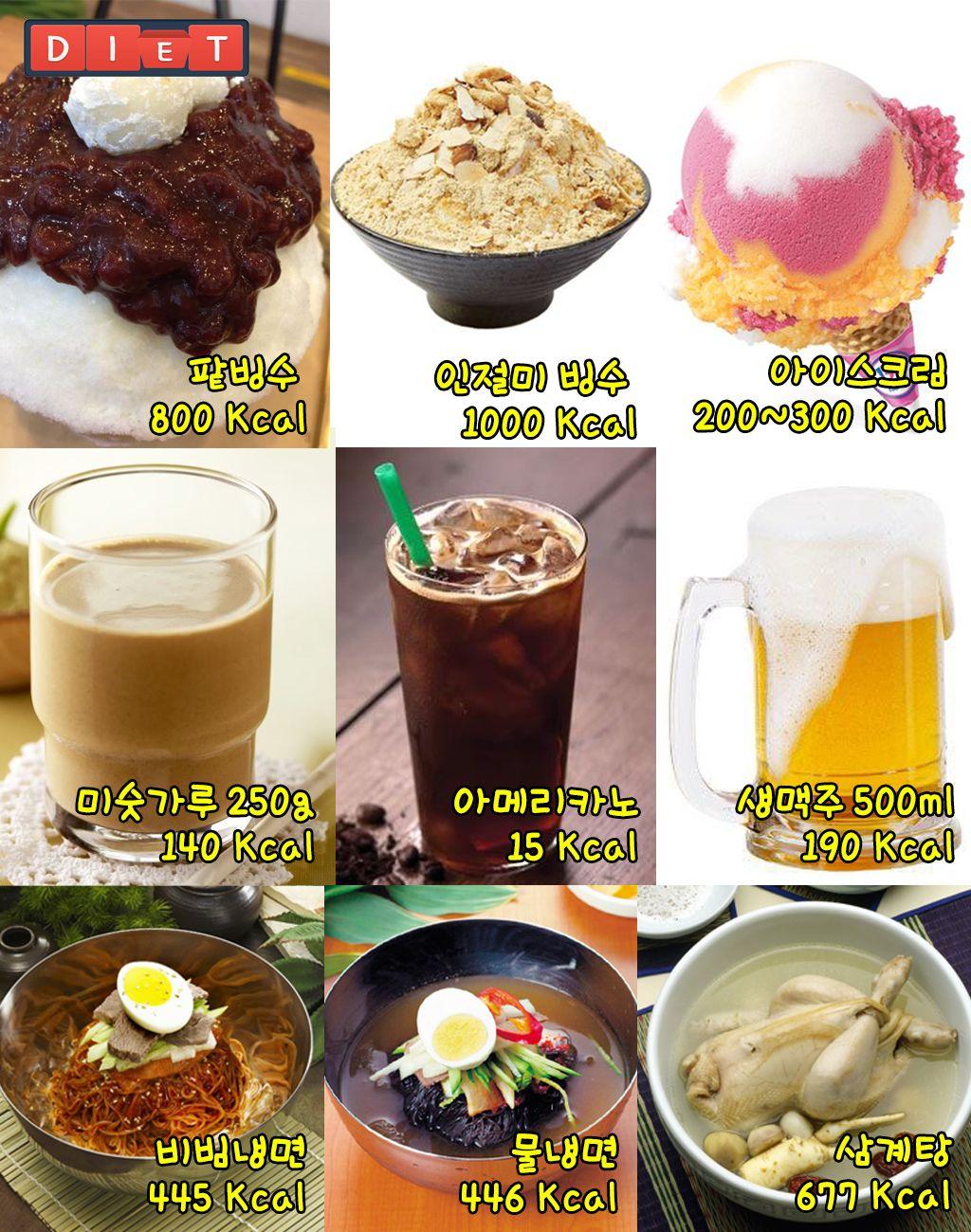 여름 대표음식 칼로리