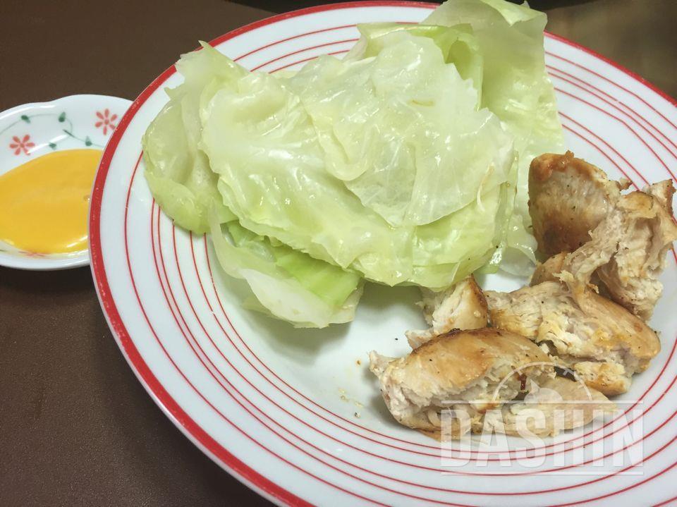 양배추와 닭가슴살 맛있게 먹기