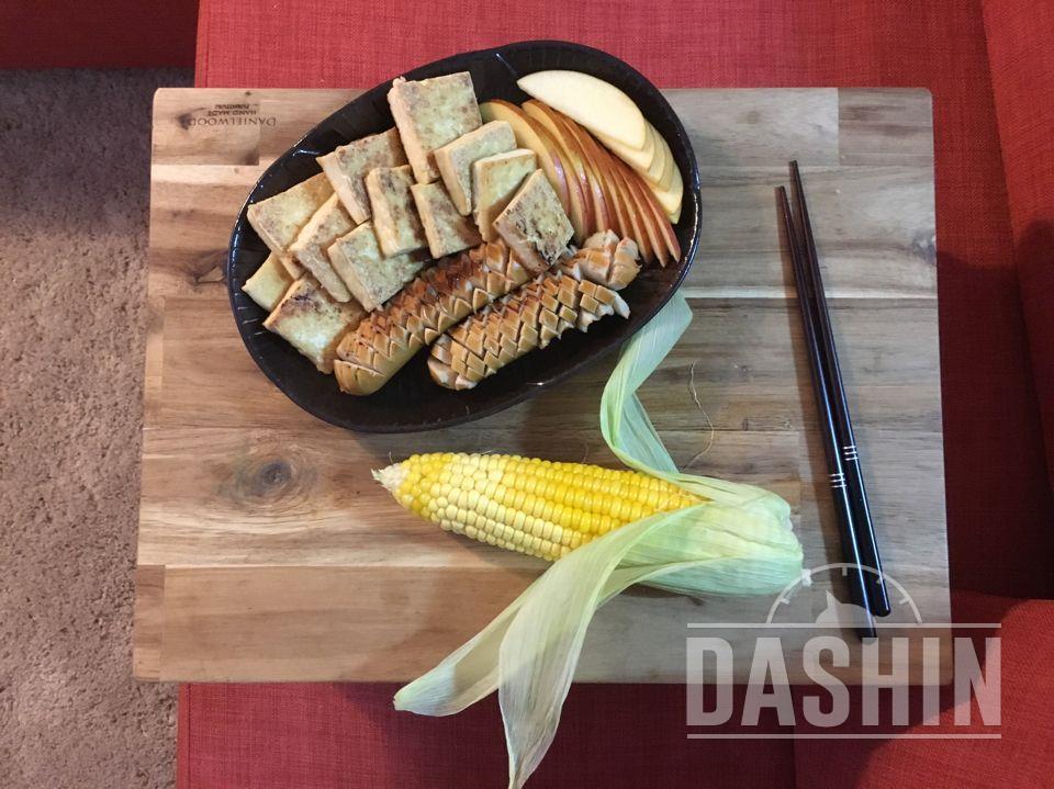 단백질위주의 저녁식사