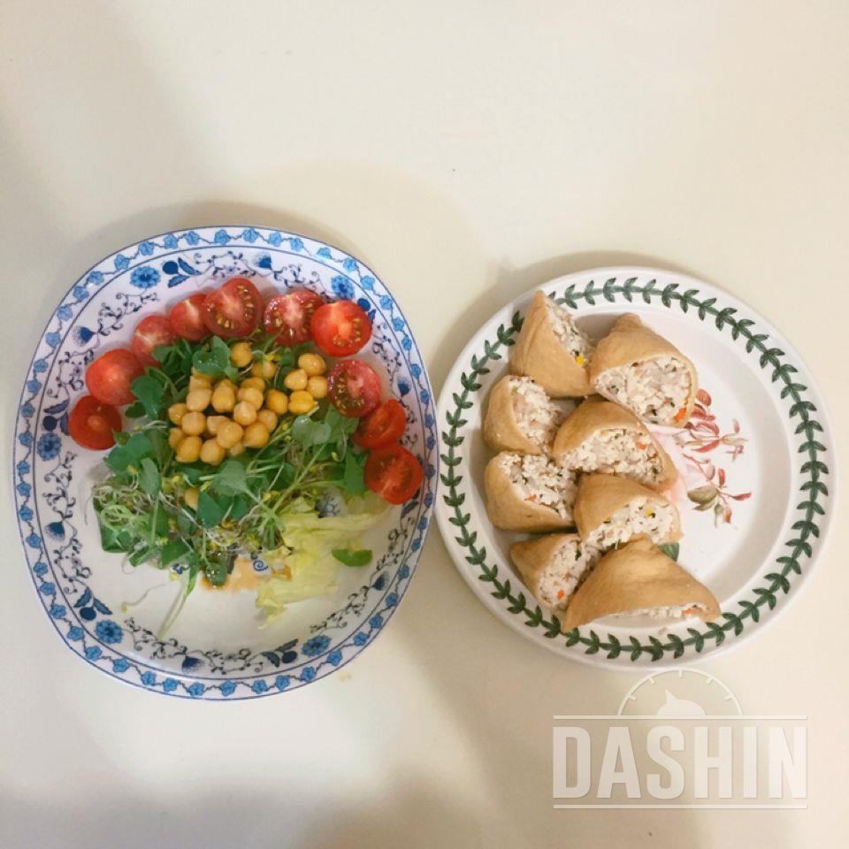 닭가슴살두부유부초밥