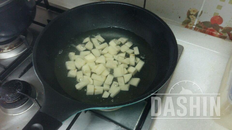 두유(두유+우유)채소 볶음