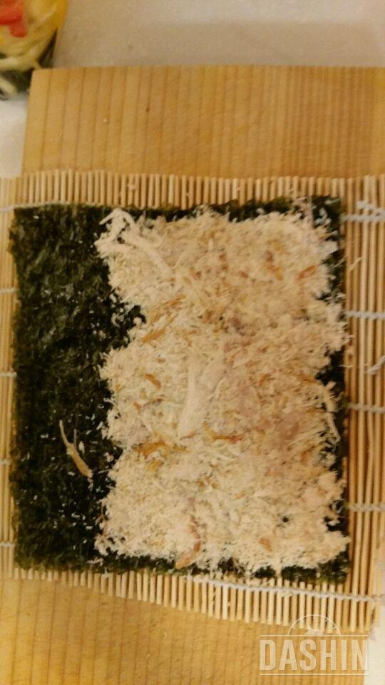 밥없는 닭고기김밥