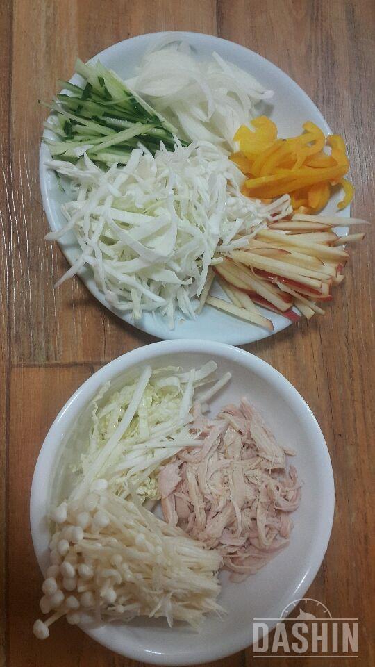 닭가슴살비빔국수 매콤새콤달콤