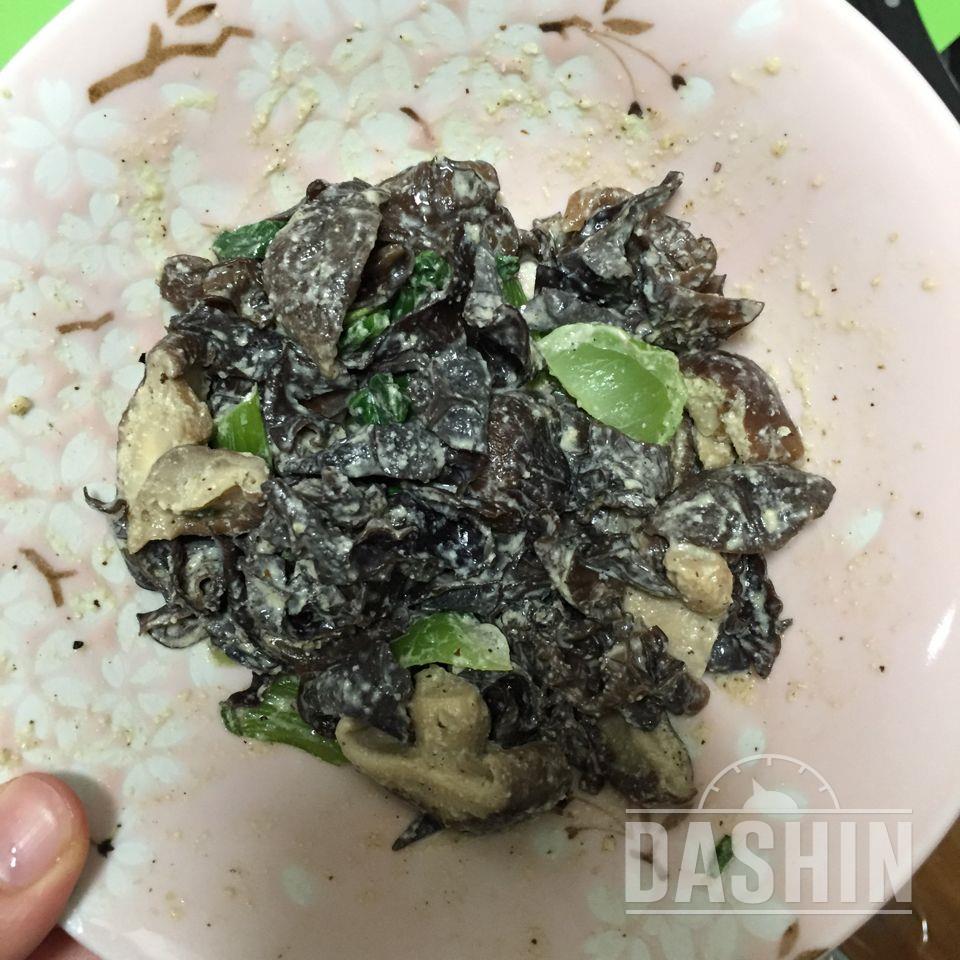 [더라이트] 청경채버섯들깨무침