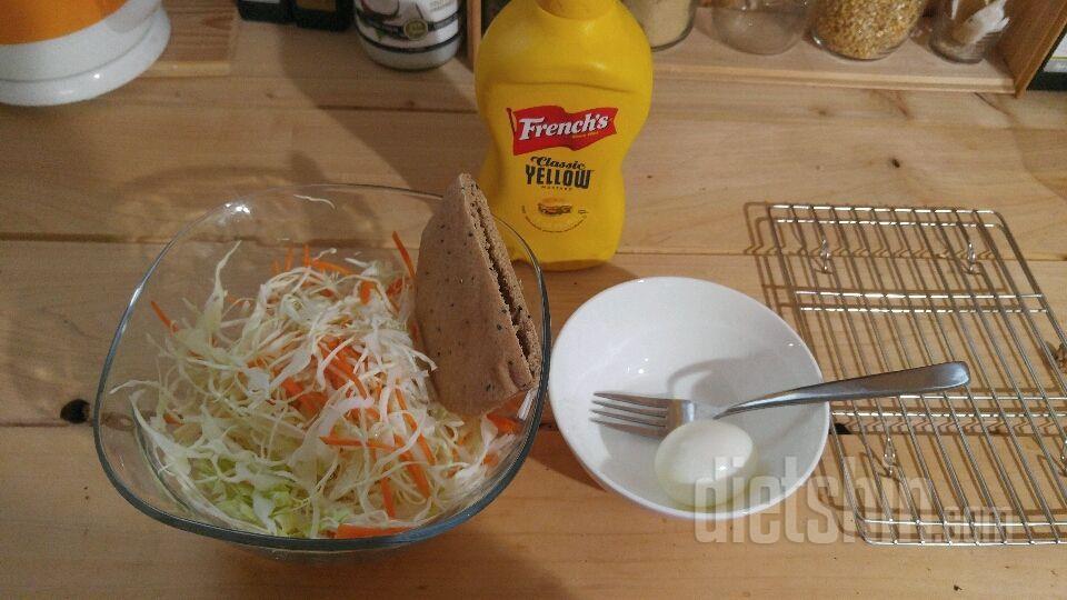 통밀피타&양배추달걀 포켓샌드위치