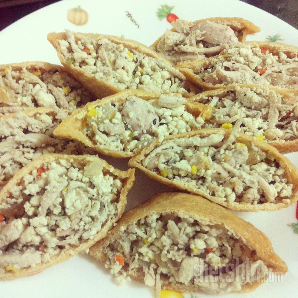 닭가슴살 유부초밥
