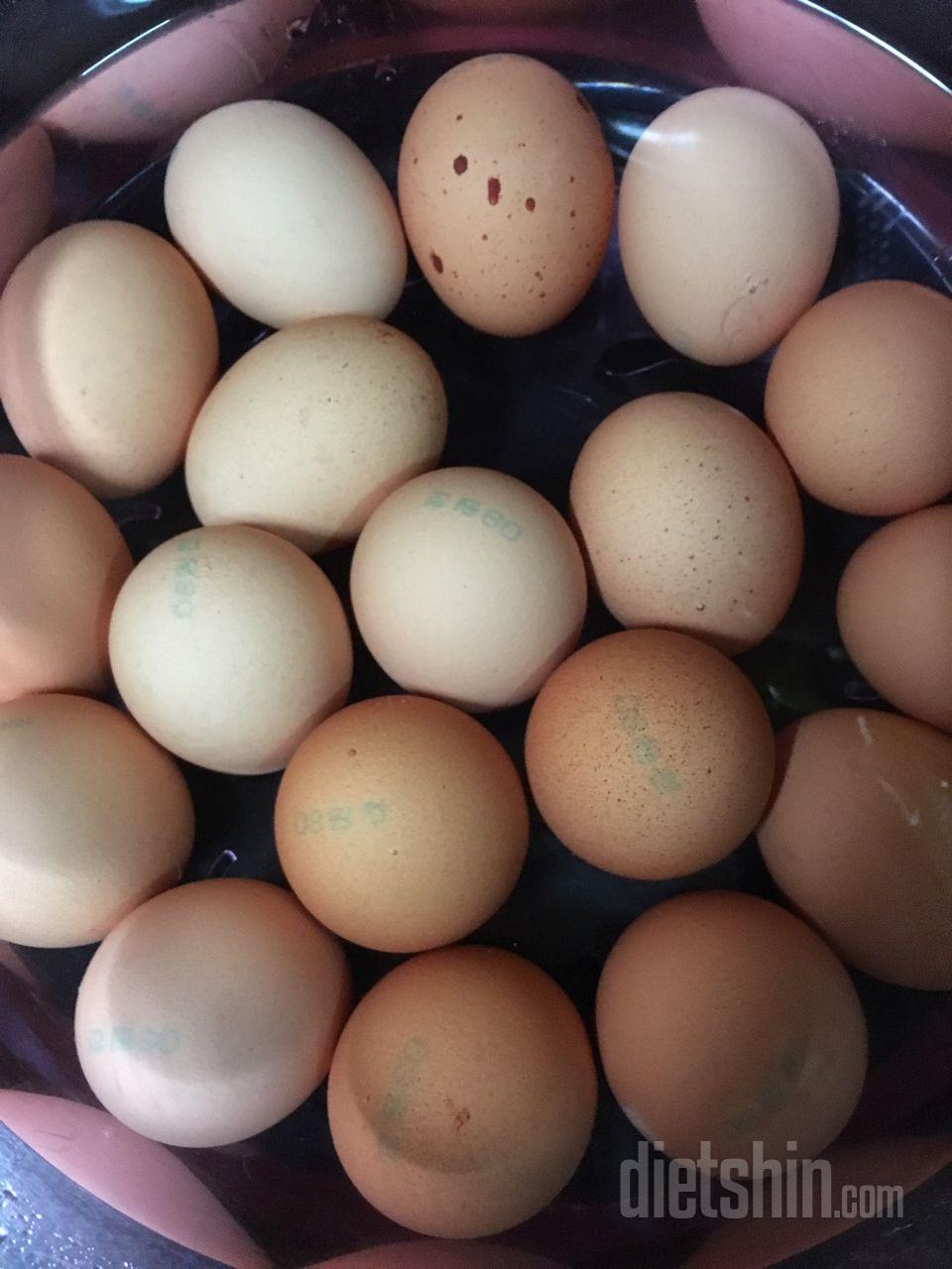 맥반석 달걀 쉽게 만들어먹어용❤