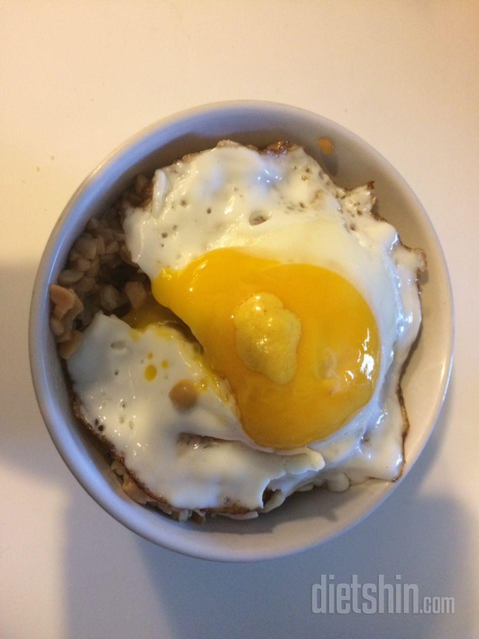 낫또 계란밥