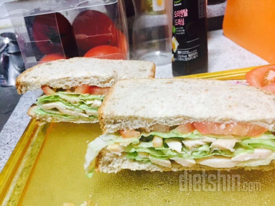 통밀빵 샌드위치