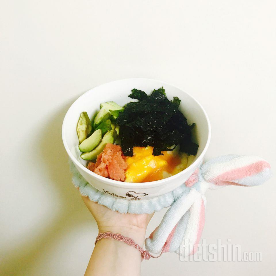 아보카도명란비빔밥