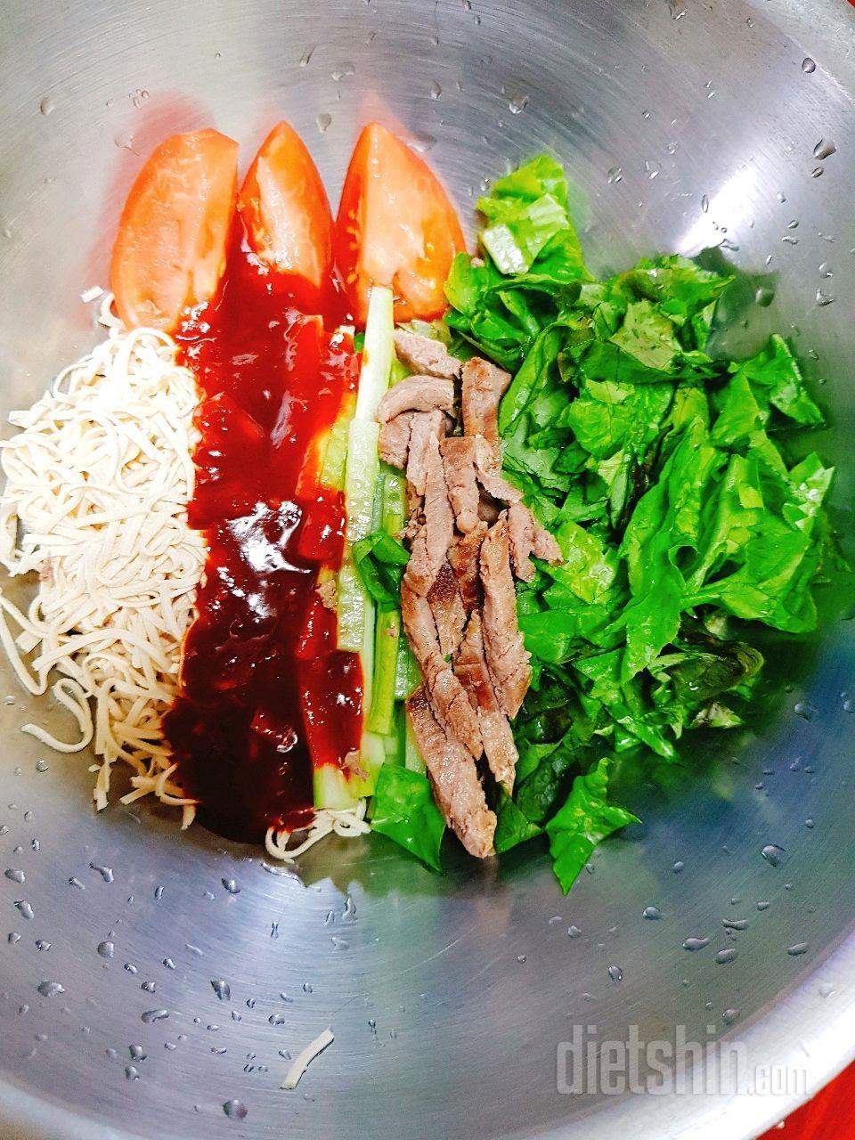 비빔 면두부 (비빔냉면 대체식품)